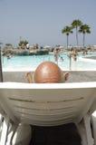 Homme chauve des vacances Photographie stock