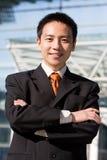 Homme chinois asiatique d'affaires Photo stock