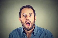 Homme choqué Image libre de droits