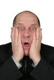 Homme choqué d'affaires Photographie stock libre de droits