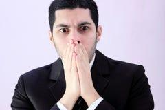 Homme choqué d'affaires Image libre de droits