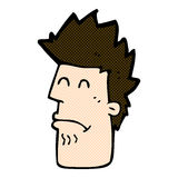homme comique de bande dessinée se sentant malade Photographie stock libre de droits