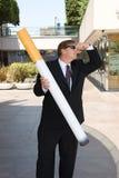 Homme contre le tabac Image libre de droits