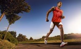 Homme courant d'athlète Image libre de droits