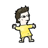 homme court de bande dessinée Images libres de droits
