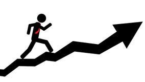 Homme couru sur la flèche Images libres de droits
