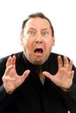 Homme craintif choqué Photographie stock
