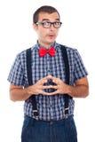 Homme curieux drôle de ballot Image libre de droits