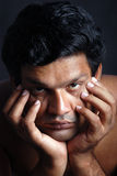 Homme déprimé Images libres de droits