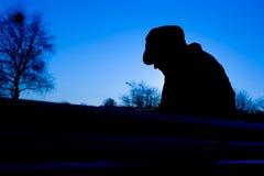 Homme déprimé Image libre de droits