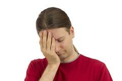Homme déprimé Photo stock