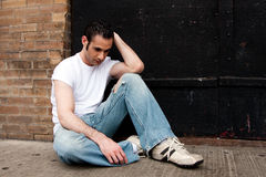 Homme déprimé Photographie stock