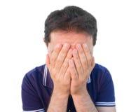 Homme désespéré. Image libre de droits