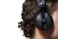 homme d'écouteurs Photos stock