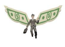 Homme d'affaires à ailes illustration stock