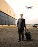 Homme d'affaires à l'aéroport Photo libre de droits