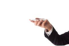 Homme d'affaires à l'aide du téléphone intelligent mobile photo stock