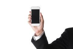 Homme d'affaires à l'aide du téléphone intelligent mobile photos stock