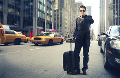 Homme d'affaires à New York Photos stock