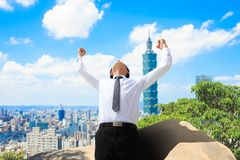 Homme d'affaires à Taïpeh photo libre de droits