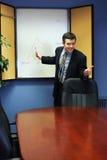 Homme d'affaires à une présentation Image stock