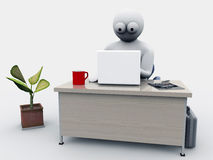 Homme d'affaires à work_2 Images stock