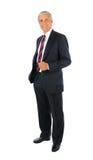 Homme d'affaires âgé moyen avec la main dans la poche photos libres de droits