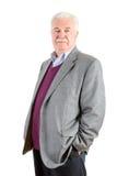 Homme d'affaires âgé par milieu Against White Background Images libres de droits