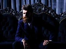 Homme d'affaires élégant barbu réussi Photographie stock