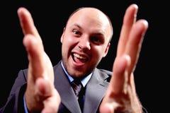 Homme d'affaires émotif Image stock