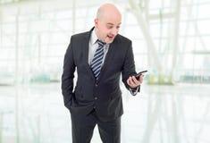 Homme d'affaires étonné Photos stock