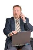 Homme d'affaires étonné Images libres de droits