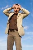 Homme d'affaires étonné Image stock