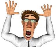homme d'affaires 3d ce qui va sur le dessin animé Photographie stock