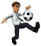 homme d'affaires 3d et également joueur de football Photographie stock libre de droits