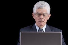 Homme d'affaires aîné au bureau Photo libre de droits