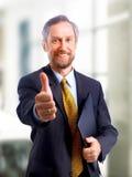 Homme d'affaires aîné de sourire Photo libre de droits