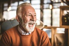 Homme d'affaires aîné de sourire Portrait Fin vers le haut Photo libre de droits