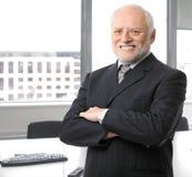 Homme d'affaires aîné heureux Photographie stock libre de droits