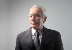 Homme d'affaires aîné sérieux Image stock