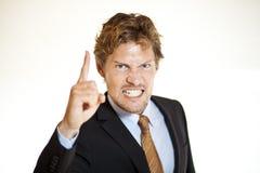 Homme d'affaires affectant quelqu'un Image libre de droits
