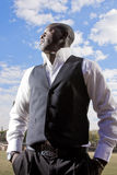 Homme d'affaires africain Photos stock