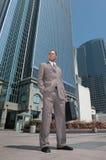 Homme d'affaires africain d'Amercian à l'extérieur Photo stock