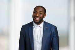 Homme d'affaires afro-américain de sourire Photo libre de droits