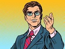 Homme d'affaires amical d'homme illustration libre de droits