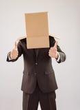 Homme d'affaires anonyme avec des pouces  image libre de droits