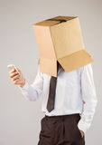Homme d'affaires anonyme avec son smartphone photos libres de droits