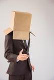 Homme d'affaires anonyme offrant sa main photographie stock libre de droits