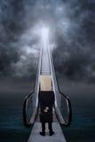 Homme d'affaires anonyme sur l'escalier de l'occasion Photos stock
