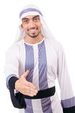 Homme d'affaires arabe d'isolement Photographie stock